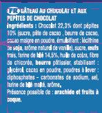 Le Brownie Chocolat Pépites - Ingrédients