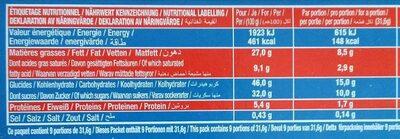 Brossard - brownie familial pepites de chocolat 285gr - Valori nutrizionali - fr