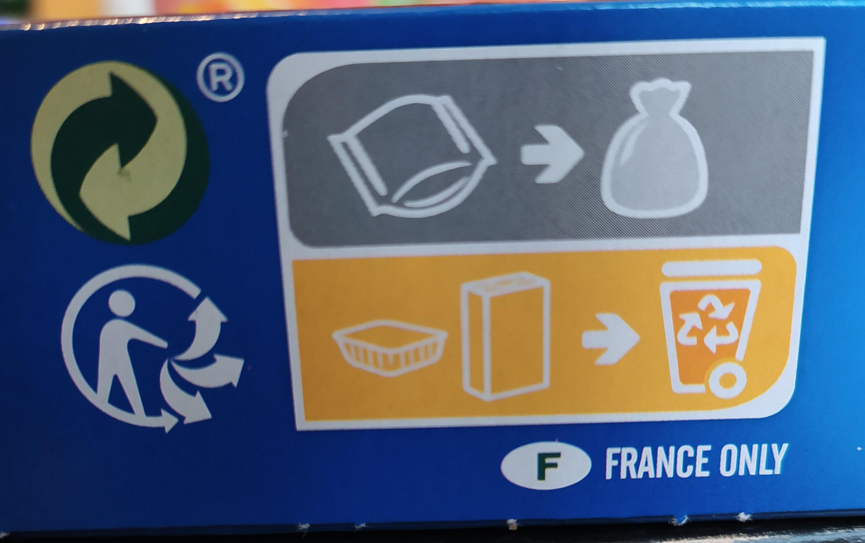 Brossard - brownie familial pepites de chocolat 285gr - Istruzioni per il riciclaggio e/o informazioni sull'imballaggio - fr