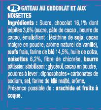 Le Brownie Chocolat Noisettes - Ingrédients - fr