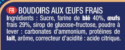 Le Boudoir Lot de 2 x 30 - Ingrédients - fr