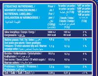 Le Boudoir Lot de 2 x 30 - Informations nutritionnelles - fr