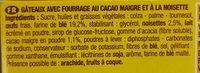 Savane fourrage Cacaoté Noisette - Ingredients
