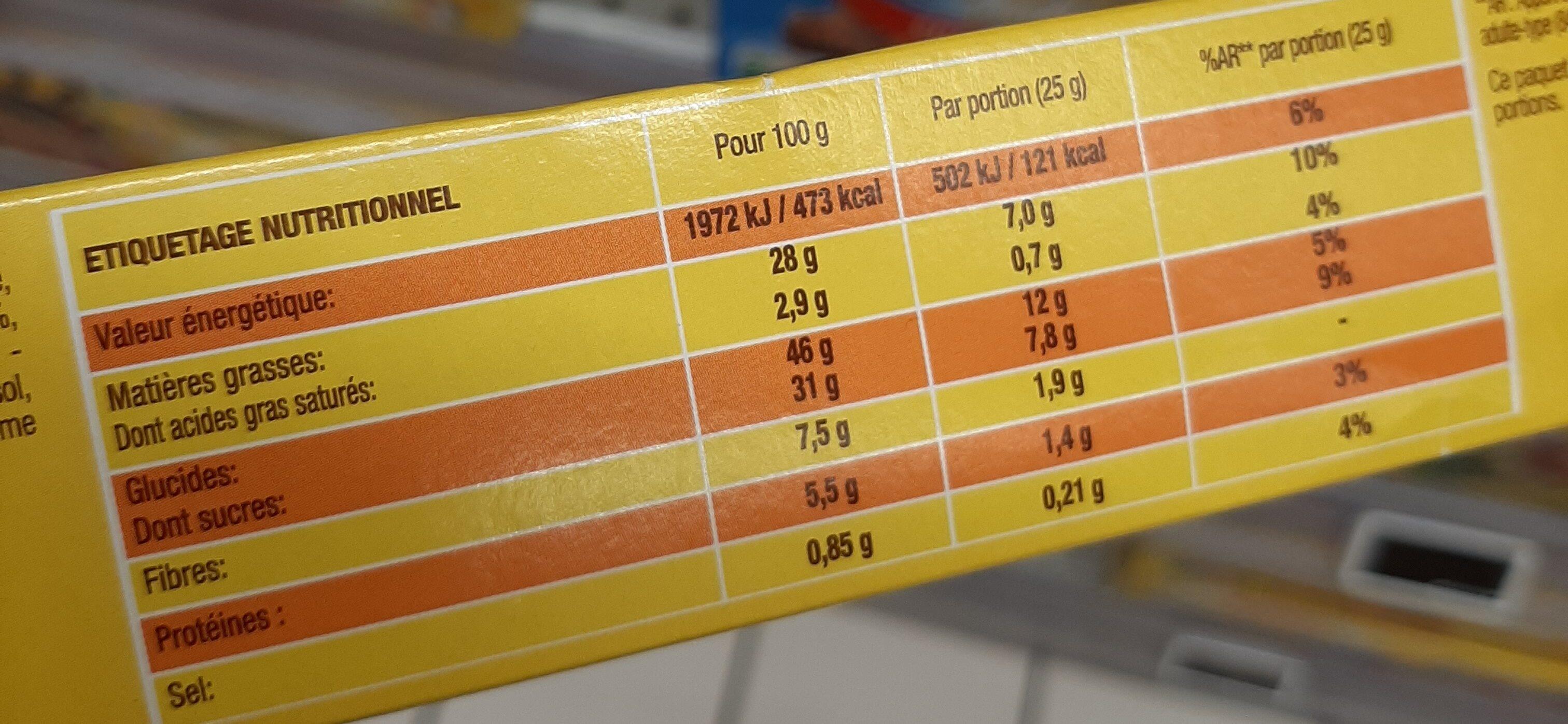 Savane pocket x7 cacao-noisette 175g - Informations nutritionnelles - fr