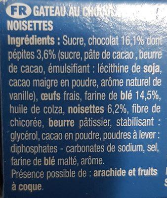 Brossard lot de 2 brownie chocolat noisettes - Ingrédients - fr