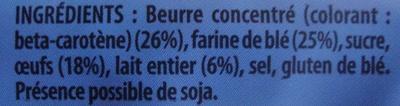 La Gaufre Nature - Ingrédients - fr
