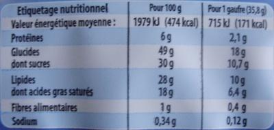 La Gaufre Nature - Informations nutritionnelles - fr