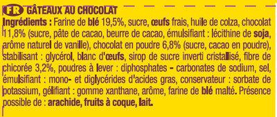 Savane tout chocolat - Ingrédients - fr