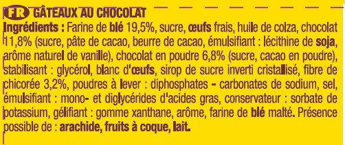 Savane pocket tout chocolatx 7 189g - Ingrediënten - fr