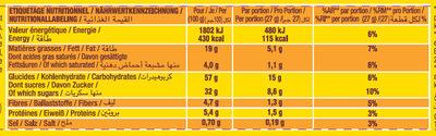 Savane tout chocolat - Informations nutritionnelles - fr
