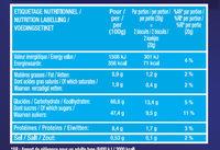 Biscuits à la cuillère - Informations nutritionnelles - fr