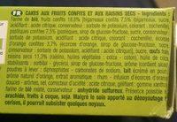 Brossard mini cakes aux fruis, 10 cakes - Ingrédients - fr