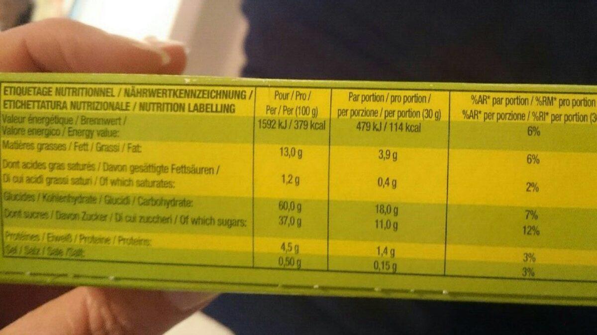 Brossard mini cakes aux fruis, 10 cakes - Informations nutritionnelles - fr