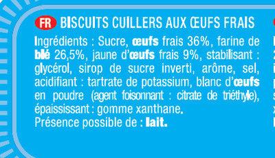 Biscuits à la Cuillère pour Dégustation - Recette Nature - Ingrédients - fr