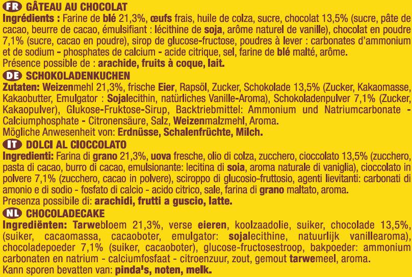 Savane Tout Chocolat 2 +1 offert - Ingrediënten