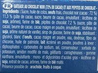 Le Brownie Pocket Choco Noir - Ingrédients - fr
