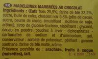 Savane madeleines marbrées - Ingrédients - fr