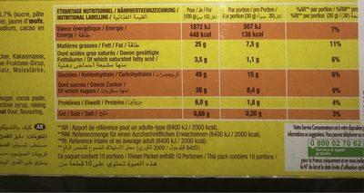 Savane - Informations nutritionnelles - fr