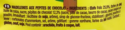 Savane Madeleines Pépit' - Ingrédients - fr