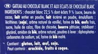 Brownie éclats de chocolat blanc à partager - Ingrédients