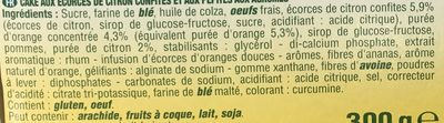 Cake aux pépites Orange & Citron - Ingrédients - fr