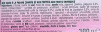 Cake aux pépites Mangue & Passion - Ingrediënten - fr