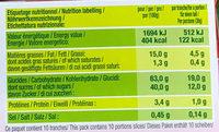 Cake aux pépites Mangue & Passion - Voedingswaarden - fr