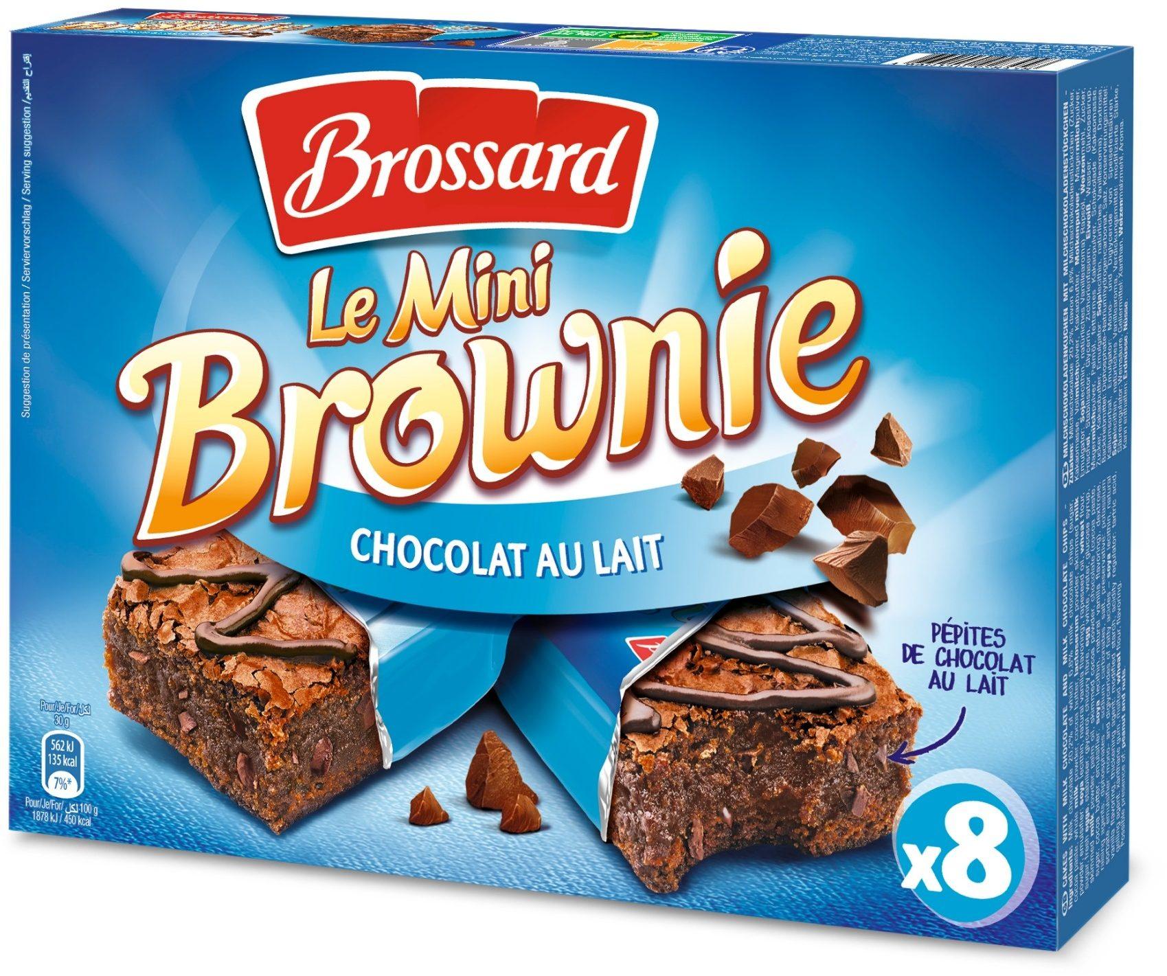 le mini brownie chocolat au lait brossard 240 g 8 x 30 g. Black Bedroom Furniture Sets. Home Design Ideas