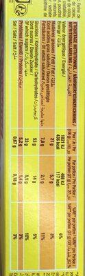 SAVANE POCKET BARR' - Nutrition facts - fr