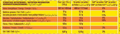 Savane Barr' - Informations nutritionnelles - fr