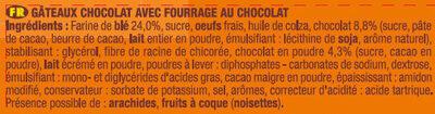 P'tit Savane Rigolo Tout Chocolat - Ingrédients - fr