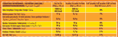 P'tit Savane Tout Chocolat - Nutrition facts