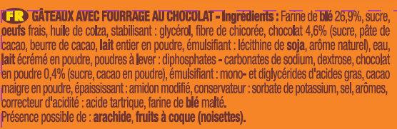 P'tit Savane Chocolat - Ingrédients - fr