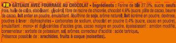 P'tit Savane Rigolo Chocolat - Ingrédients - fr