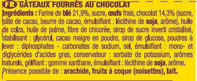 Brossard - lot de 3 savane pocket x 7 barr' chocolat + 1 paquet offert - 756gr - Ingrediënten - fr