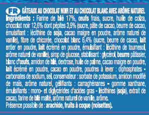 Le Mini Brownie Duo de Chocolats - Ingrédients - fr