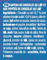 Le Brownie Chocolat au Lait - Ingredientes