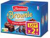 Brossard - lot 2 mini brownie chocolat pepites x8 - Prodotto