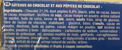 Brossard - lot 2 mini brownie chocolat pepites x8 - Ingrediënten - fr
