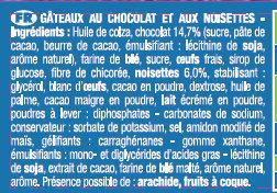 Le Mini Brownie Chocolat Noisettes Lot x2 - Ingrédients - fr