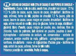 Le Mini Brownie Chocolat Noir Lot x2 - Ingrédients - fr