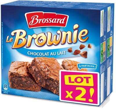 Le Brownie Chocolat au Lait Lot x2 - Product - fr