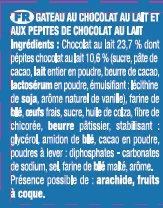 Le Brownie Chocolat au Lait Lot x2 - Ingrediënten - fr