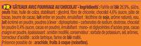 P'tit Savane Gâteau fourré Chocolat - Ingrediënten - fr