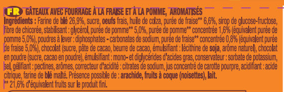 Lt2 p'tit savane rigolo fraise 150g - Ingrediënten - fr