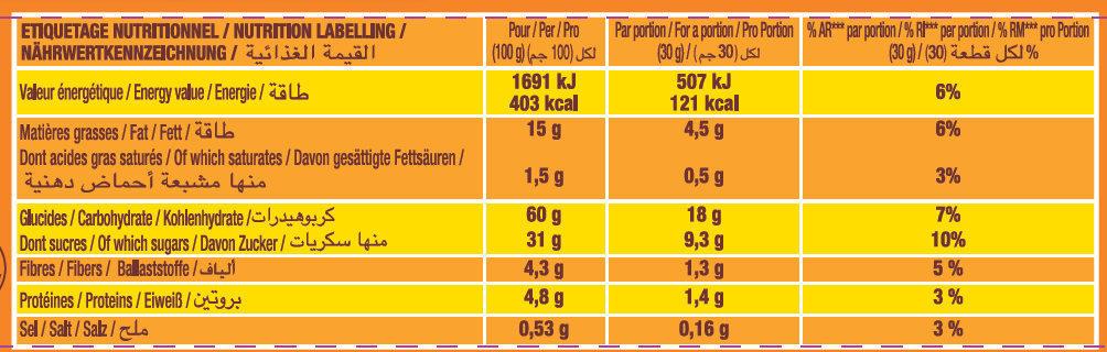 Lt2 p'tit savane rigolo fraise 150g - Voedingswaarden - fr
