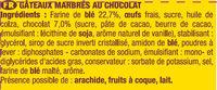 SAVANE POCKET CHOCOLAT - Ingredients - fr