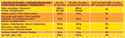 SAVANE POCKET CHOCOLAT - Informations nutritionnelles - fr