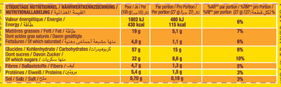 Savane Tout Chocolat - Nutrition facts - fr