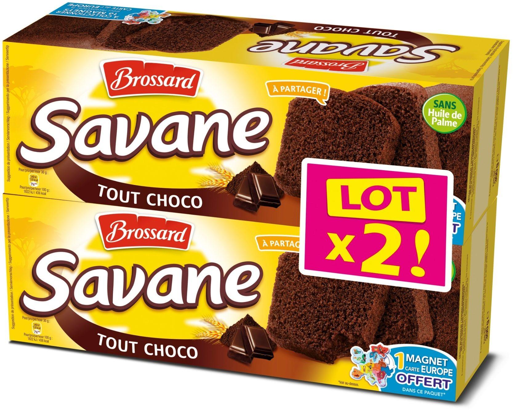 Savane Tout Chocolat Lot X2 - Produit - fr